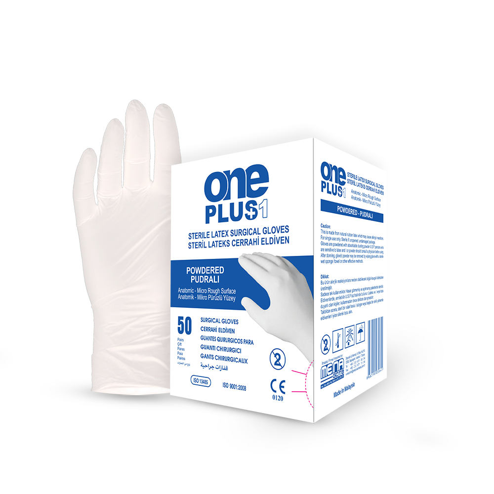 Latex Surgical Gloves Powdered box
